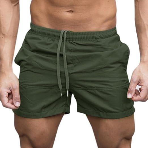 90fb8d6c3e8 Amazon.com  Bookear Clearance!Men Gym Casual Sports Jogging Elasticated  Waist Shorts Pants Trousers  Clothing