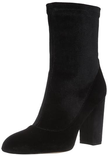 ac3c122401e743 Sam Edelman Women s Calexa Fashion Boot Black Stretch Velvet 5 Medium US