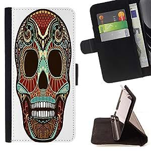 King Case - FOR Samsung Galaxy S4 IV I9500 - I like lonely again - Prima caja de la PU billetera de cuero con ranuras para tarjetas, efectivo Compartimiento desmontable y correa para la mu?eca