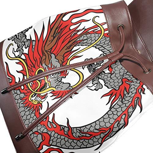 dos multicolore à Taille DragonSwordlinsu pour au unique main porté Sac femme 5Oggq8wXx