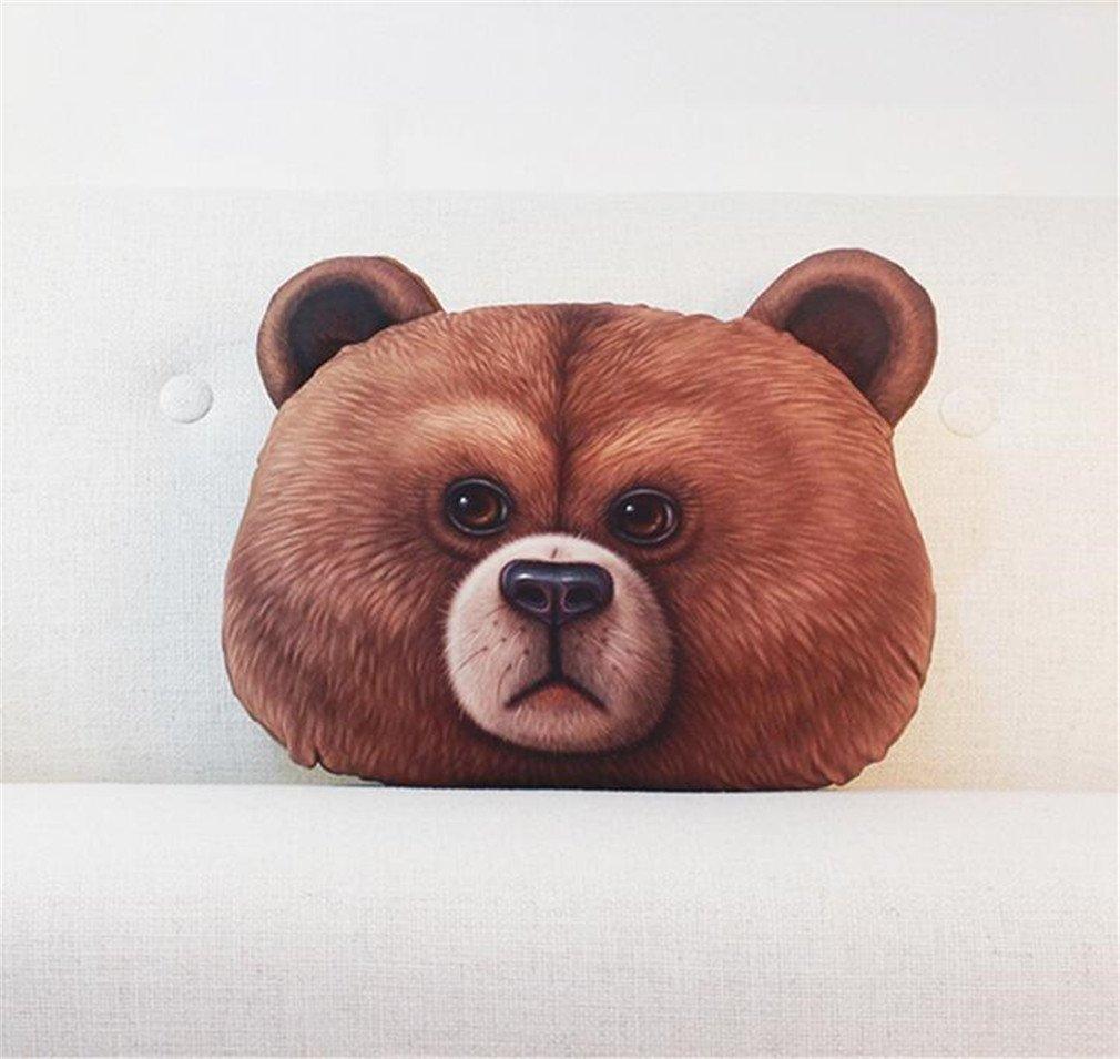 NUO-Z Short Plush Cushion - Bedside Nap Sleep Lumbar Pillow 3D Cushion -Creative Personality Gift Cartoon Plush Toys - Christmas Gift, Family, Hotel, Decoration, Chair, Bed,Car,Orange