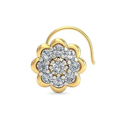 486837c946c6b Buy Fine 92.5 Sterling Silver Opulent Dazzler Nose Pin 18k Gold ...