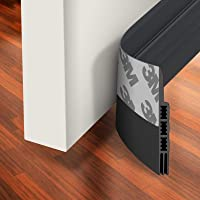 Holikme Door Draft Stopper Under Door Draft Blocker Insulator Door Sweep Weather Stripping Noise Stopper Strong Adhesive…