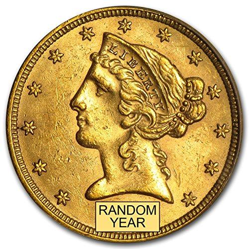 1838 $5 Liberty Gold Half Eagle BU (Random Year) G$5 Brilliant Uncirculated