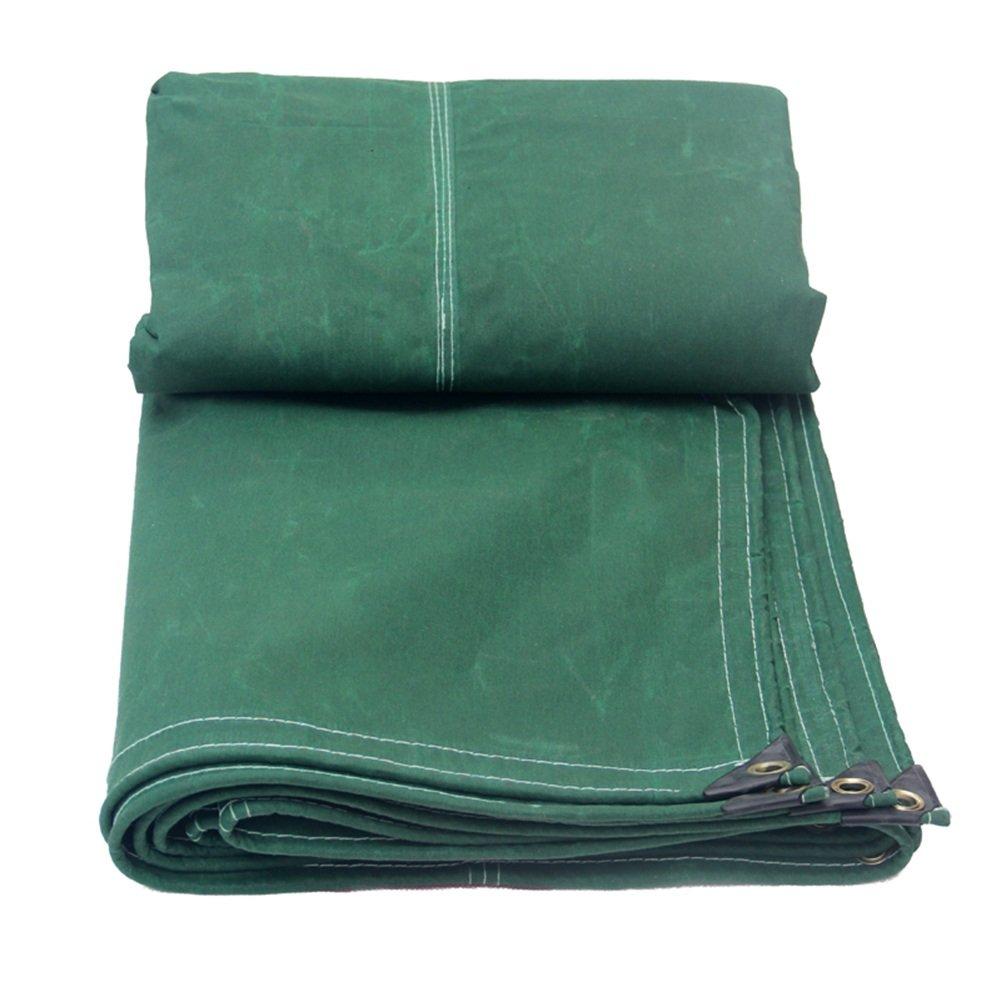 ZEMIN オーニング サンシェード ターポリン 防水 日焼け止め テント シート ルーフ 防風 閉じる コンパクト 厚い ポリエステル、 緑、 600G/7サイズあり (色 : 緑, サイズ さいず : 4X6M) B07D5WMSXG 4X6M 緑 緑 4X6M