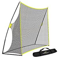 PodiuMax Portable 10x7ft Golf Hitting Net with Carrying Bag - Professional Swing Training Aids at Home, Perfect for Driving Practice Indoor | Outdoor, Also Suitable for Baseball | Softball