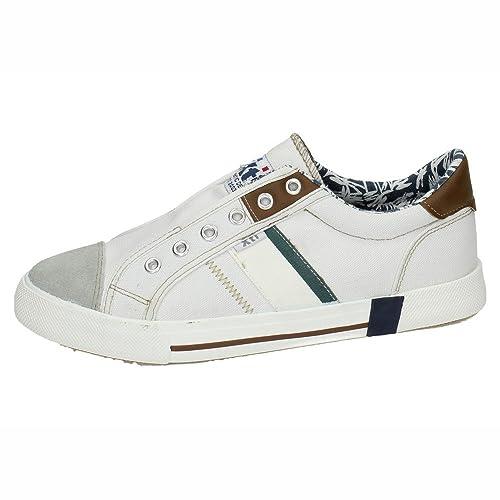 XTI - Deportivo CRO Lona Hombre Color: Blanco Talla: 41: Amazon.es: Zapatos y complementos
