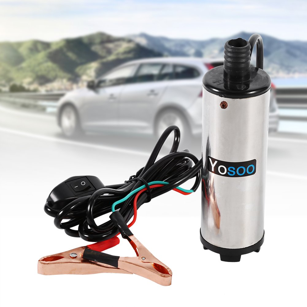 Fuel Pump Electric; 12/ V Small Electric Submersible Pump 51/ mm Stainless Steel Submersible Pump Oil Diesel Fuel Pump Submersible Pump Calibre 30/ L//MIN SUCTION Pump High Capacity Output