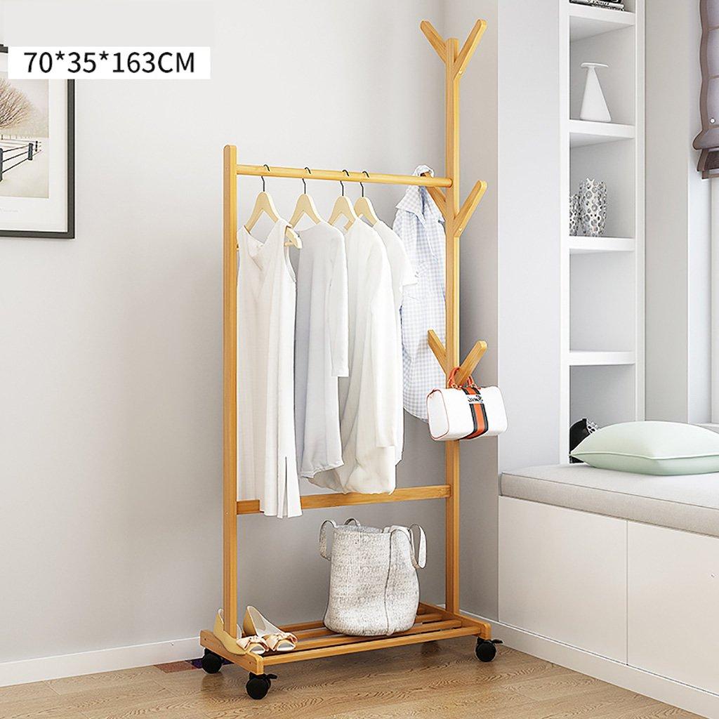 コートラック コートラックの床の寝室のハンガーシンプルな木製のコートラック経済ハンガー創造的な服のハンガー ( サイズ さいず : 70センチメートル ) 70センチメートル  B07CLDZGDJ