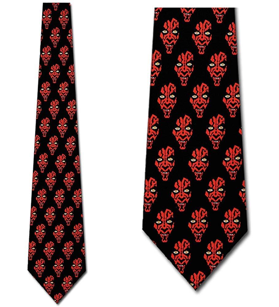 Corbata Para Hombre Corbata,Corbata De Star Wars Corbatas Maul Corbata Gal/áctica Corbata Para Hombre,Neck Tie,Largo 145 Cm