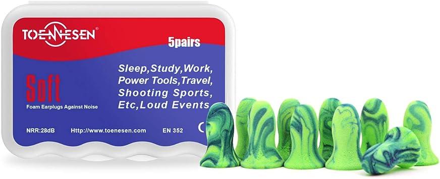 concerti Tappi per le orecchie sparare e nuotare auricolari/con isolamento acustico,/per dormire 1 paio riutilizzabili