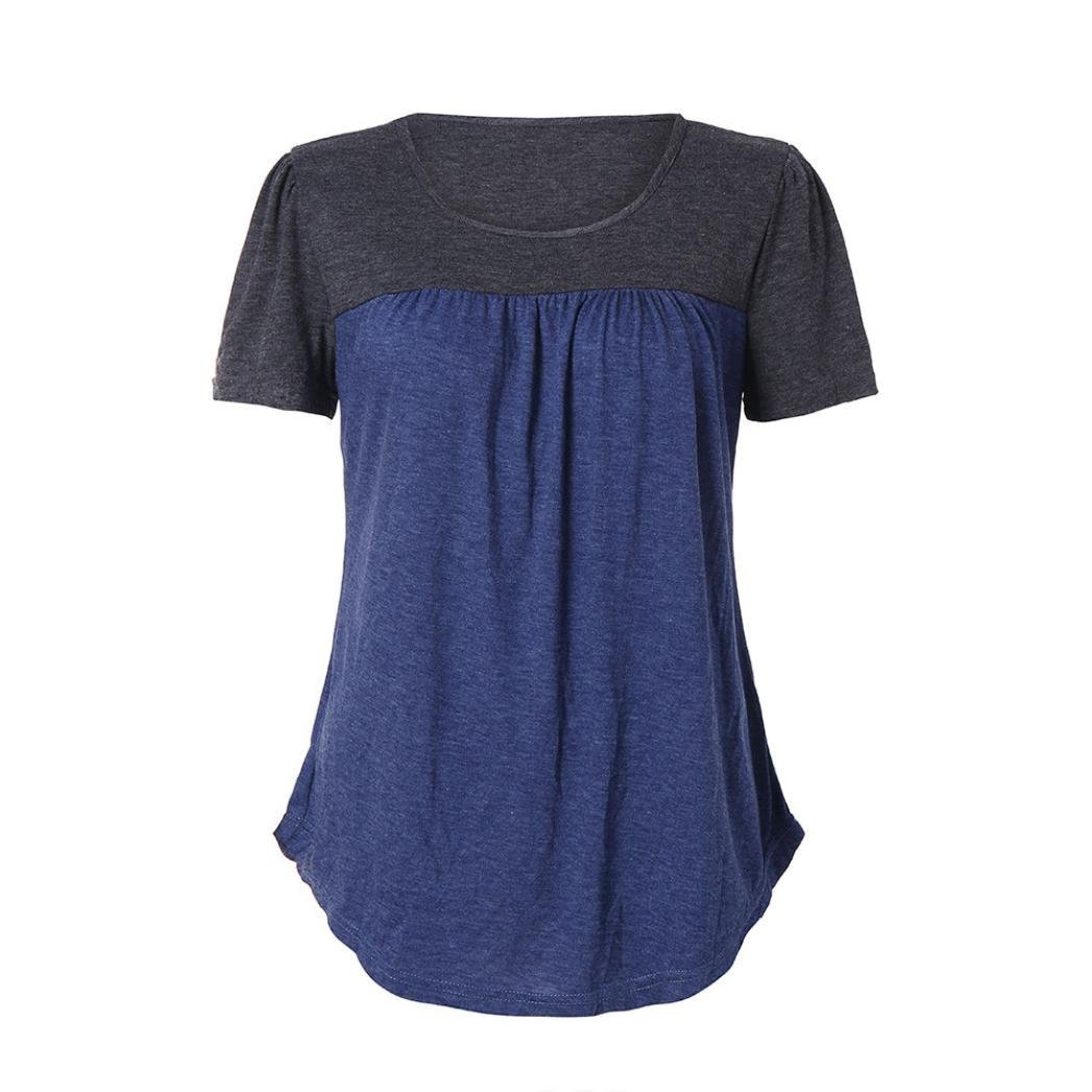 190830715 Women\'s Shirts Casual Blouse Short Sleeve Ruffle Button up Tunic Tops  Solid Color Fit Flare Flowy Burnout or Triblend Racerback Tank Women Short  Sleeves ...