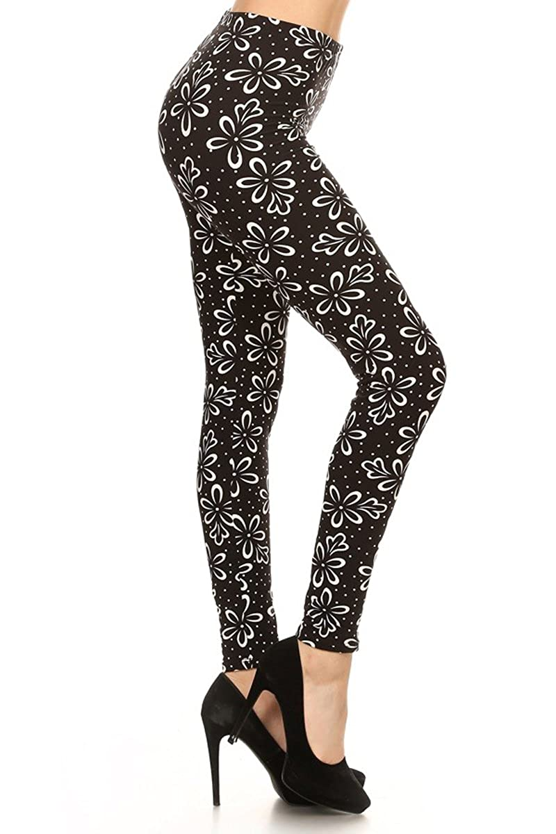 Leggings Depot Women's Ultra Soft Printed Fashion Leggings BAT2