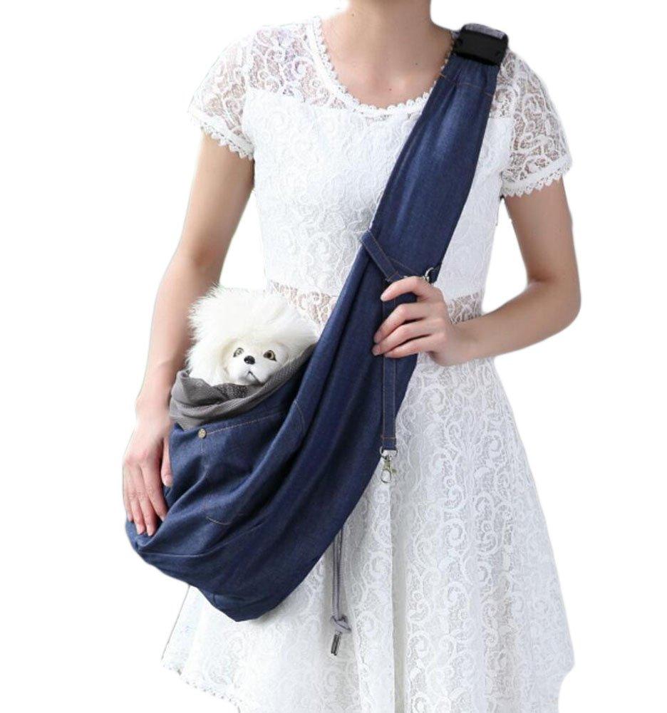 mascotas propias Nolso porta mascotas sling seguro C/ómodo ajustable Bolso porta mascotas sling perfecto para actividades al aire libre reversible apto Mascotas peque/ñas y medianas