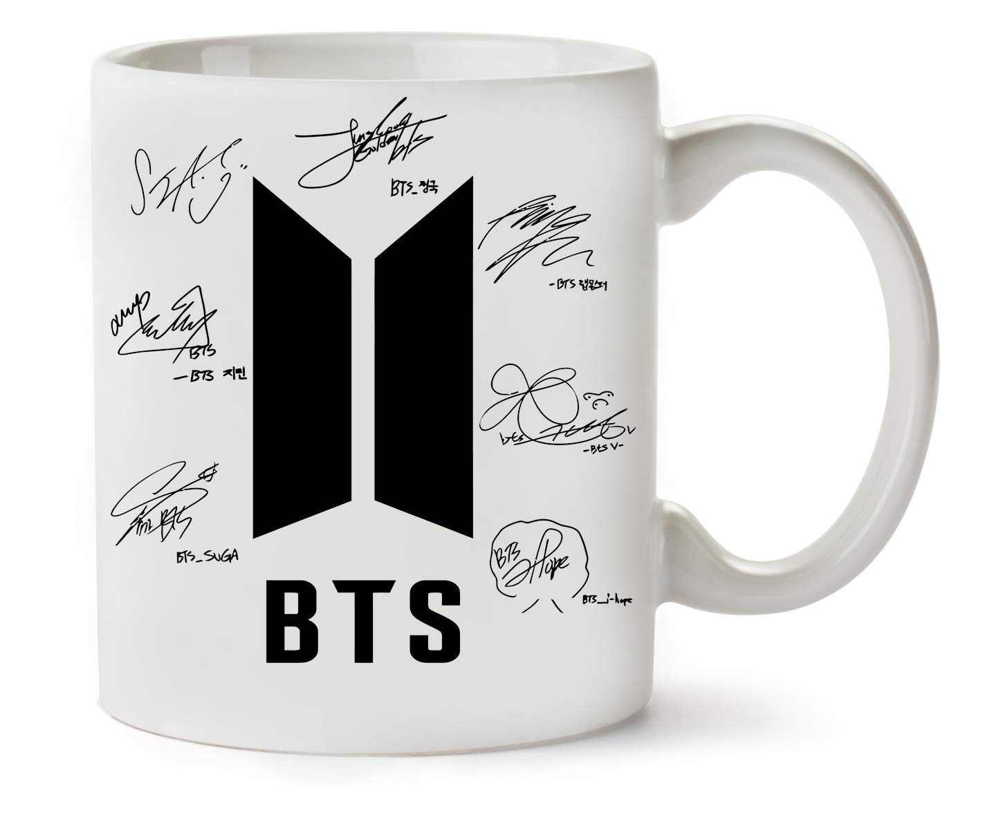BakoIsland BTS Bangtan Boys Signatures Autograph Classic Tea Coffee Mug