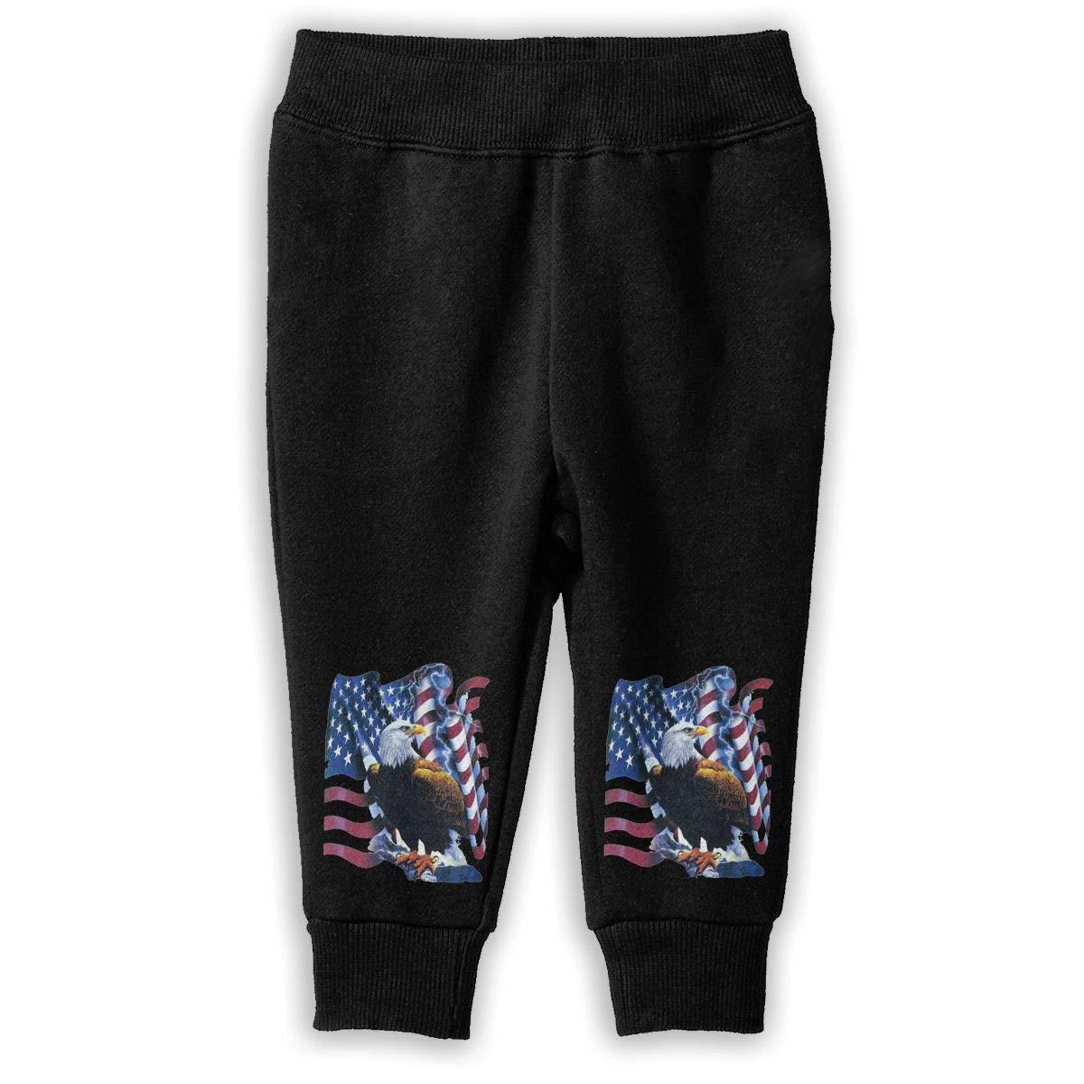 Rainbowhug USA Eagle Unisex Children Sweatpants Boys Unique Soft Cozy Trousers for Kids
