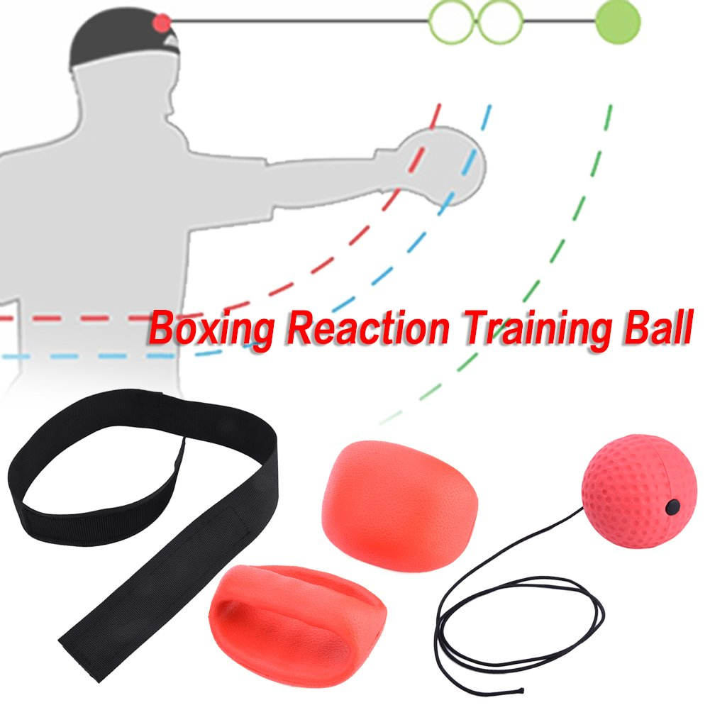 Sundlight Training Boxing, Boxing Reflex Ball Training with Headband Boxing Punch Ball Fitness Training Reactions and Speed Sports for Boxing and Other Combat B07BNLGW38