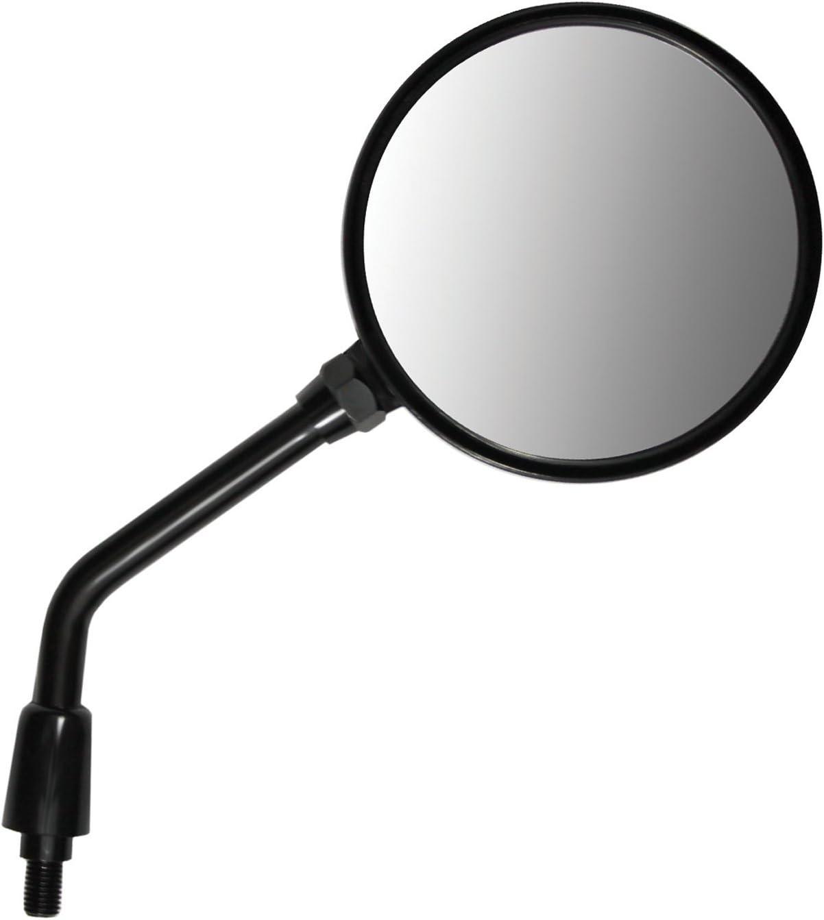 Poweka 95107 Black Knockback Stem Round Motorcycle Mirror RH//LH,EC Spec