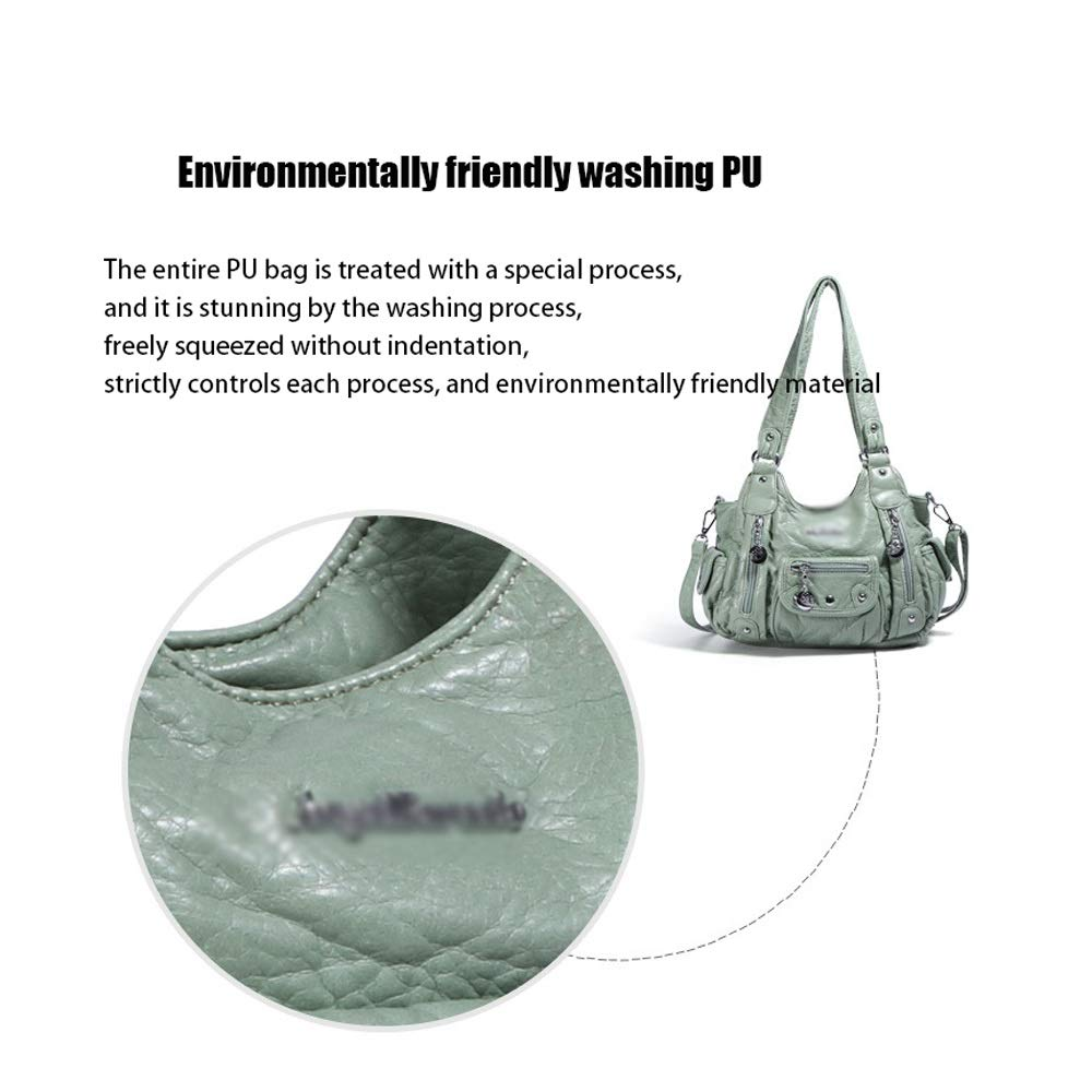 Ysswjzz kvinna handväskor mode handväskor för damer topphandtag axelväskor PU-läder 27 x 10 x 24 cm b