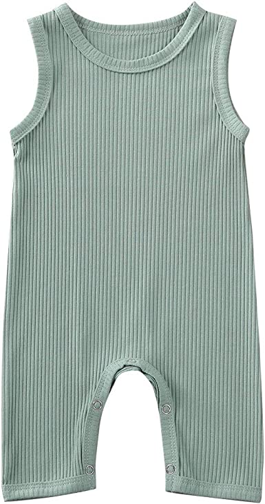 LOV ANNY Baby Girl Boy Cotton Snap Button Coverall Romper Bodysuit with Footies