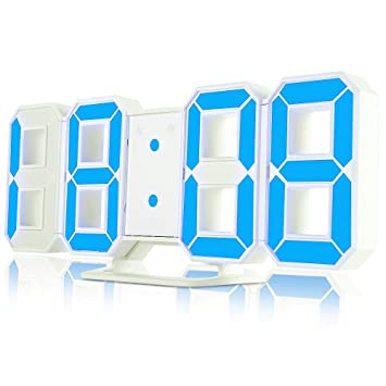 iLifeSmart 3D Digital LED Reloj Despertador Digital 3 Nivel de Brillo Ajustable 12/24 horas con función de Alarma, Snooze y Memoria Automática: Amazon.es: ...