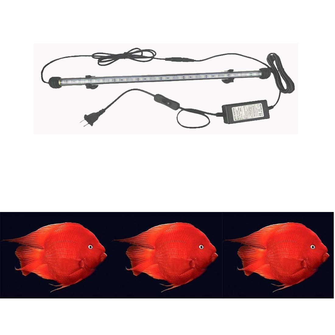 1.4m Red Fish Tank Light Waterproof LED Lamp Aquarium Brighten Diving Lighting for Amphilophus Fish,1.11.4m,1.4m