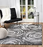 SUMMIT BY WHITE MOUNTAIN Summit LD-1THN-PO89 Chatham 213 Modern Abstract Area Rug Aprox(Grey), 5′.X 7′ Review