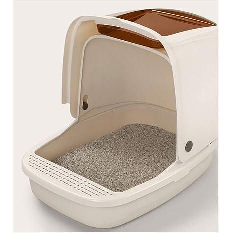 Wcx Caja de Arena para Gatos Inodoro Bandeja de Basura con Tapa Plegable para Gatos Caja