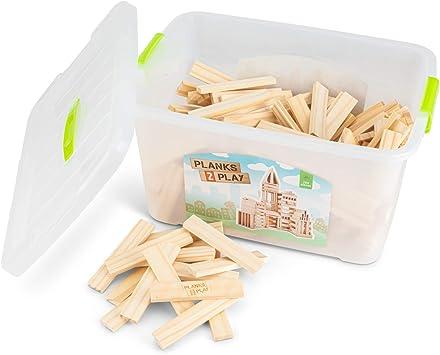 New Classic Toys Planks 2 Play Set Di 2 Tavole In Legno 200 Pezzi P2p0200 Amazon It Giochi E Giocattoli