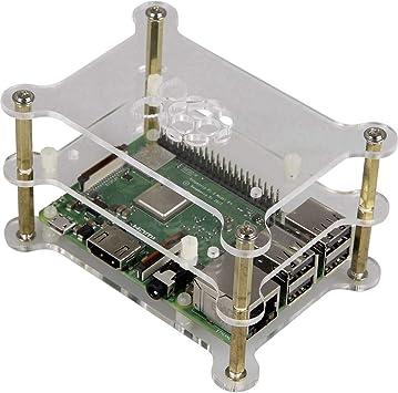 Raspberry Pi Caja Acrylvidrioclaro RB-Case+13, 2 B, 3 B, 3 B+, B+: Amazon.es: Electrónica