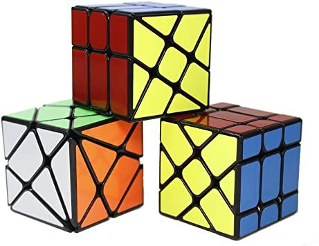 OJIN Yongjun YJ Specific Speed Cube Puzzle Sets-Pack de 3 (Incluye Cubo de 3X3 Fluctuation Angle Puzzle, Windmill Cube 2x3 Shape Mod, Fisher Cube 3x3x3 Shape Twisty Puzzle) (Negro): Amazon.es: Juguetes y