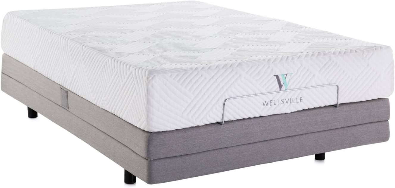 WELLSVILLE 11 Luxury Gel Memory Foam Mattress with Plush Ventilated Top Layer – CertiPUR-US Certified – Twin