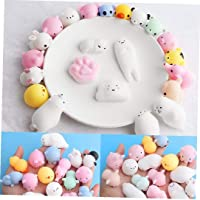 20Pcs Mochi Squishy Toys, Kawaii Squishy Cat Anxiety Relief Toys, Solid Mini Squishies Super Slow Rising Kids Toys…