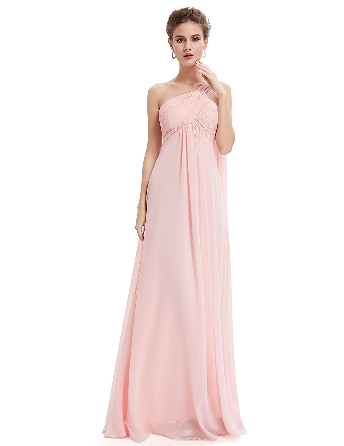 1960s Evening Dresses, Bridesmaids, Mothers Gowns Ever Pretty Womens One-Shoulder Evening Gown $56.99 AT vintagedancer.com