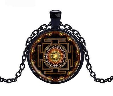 Collar Colgante Símbolo Sri Yantra Budista, Chakra ...