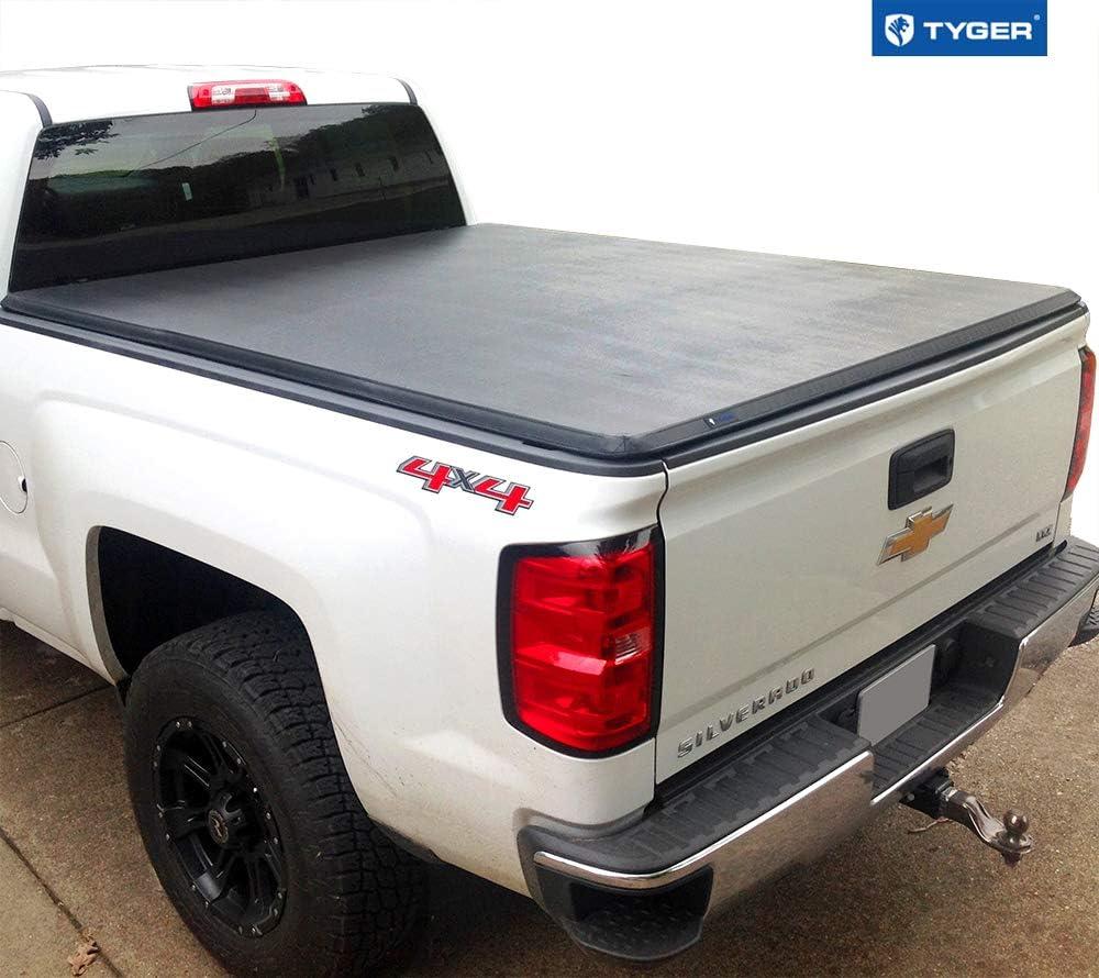 Best Tonneau Covers for GMC Sierra, Tyger Auto T3 Soft Tri-Fold Truck Bed Tonneau Cover