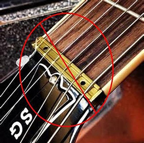 brass replacement nut for gibson zero fret nut les paul sg 335 guitar arts entertainment. Black Bedroom Furniture Sets. Home Design Ideas