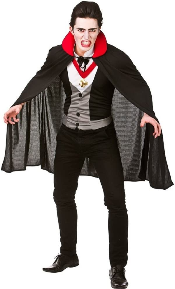Bloodthirsty Vampire Mens Fancy Dress Halloween Dracula Adults Costume Outfit