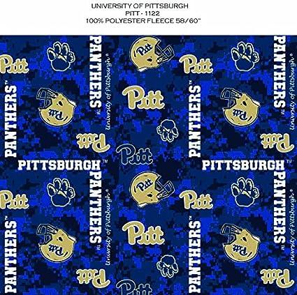 Amazon Com Pittsburgh Panthers Fleece Blanket Fabric University Of Pittsburgh Panthers Fleece Fabric Camouflage Design
