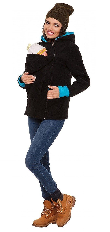 E-Bestar Women's Maternity Polar Warm Fleece Hoodie Duo Top Carrier Baby Holder