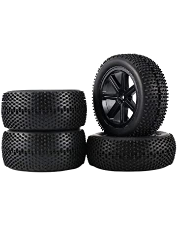2 Par 85mm Rueda Hub Llanta y Neumáticos Para 1:10 Off-Road RC