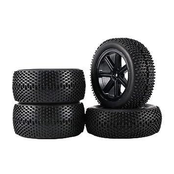 2 Par 85mm Rueda Hub Llanta y Neumáticos Para 1:10 Off-Road RC Car Buggy Tires Repuestos Accesorios Componente: Amazon.es: Coche y moto