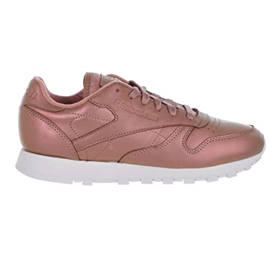 903b8b395959 Reebok Classic Leather Pearlized Shoes - Rose Gold White - Womens - 9.5