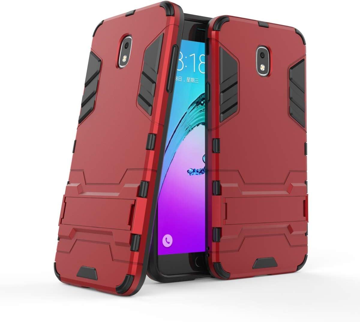 Cocomii Iron Man Armor Galaxy J7 2018/J7 V/J7 Star/J7 Refine Funda Nuevo [Robusto] Táctico Sujeción Soporte Antichoque Caja [Militar Defensor] Case Carcasa for Samsung Galaxy J7 2018 (I.Red)