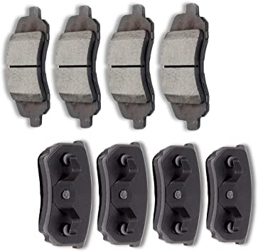Front and Rear Ceramic Disc Brake Pads For 2011-2014 Chrysler 200 Performan 8pcs
