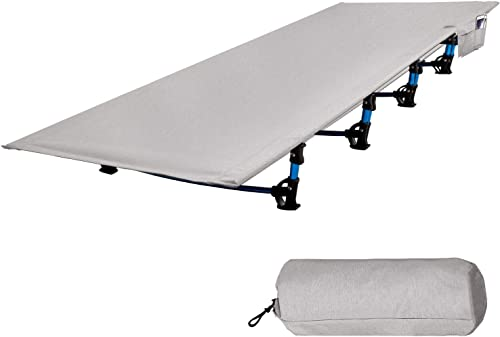 RedSwing Folding Camping Cots for Adults Heavy Duty, 28 -33 Wide Sturdy Portable Sleeping Cot for Camp Office Use, Blue Gray Military