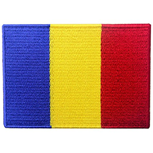 (Romania Flag Patch Embroidered Applique Romanian National Iron On Sew On Emblem)