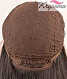K'ryssma Ombre Grey Synthetic Lace Front Wigs Bob