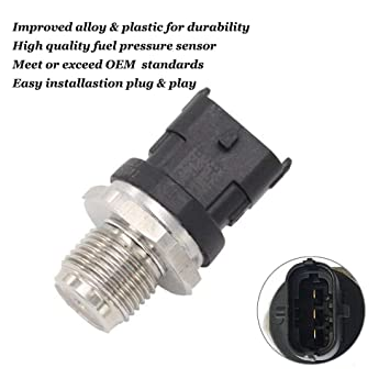 0281006327 Fuel Injection Fuel Rail Pressure Sensor for 2007-2012 Dodge Ram  2500 3500 6 7L Cummins Replace OE# 0281006327 028102850 5261237