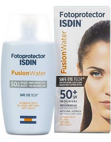 Isdin Fusion Water - Fotoprotector facial diario SPF 50+ de base acuosa con ingredientes antienvejecimiento